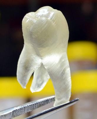 Dientes creados en impresoras 3D