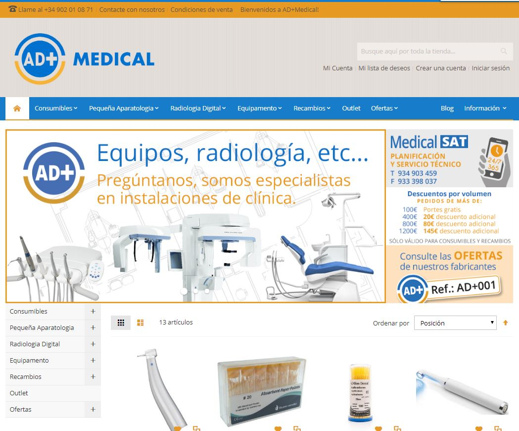 AD+ Medical estrena nueva web